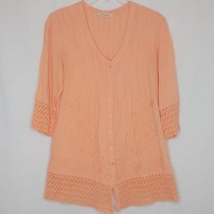 Soft Surroundings Small Petite Pink 3/4 Sleeve Top